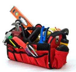 Handyman's toolbag for minor domestic repairs